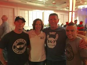 Brute Force Training, Lori Mercer and Dan Mercer, and Robert (555 Fitness)