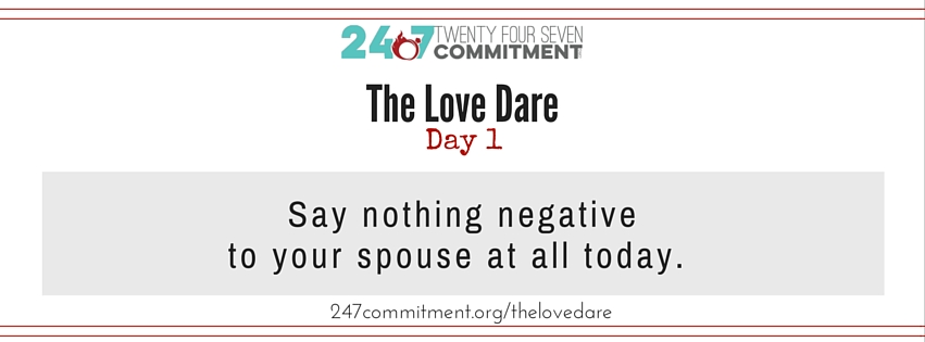 The Love Dare Day 1 banner (1)
