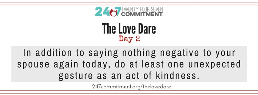 The Love Dare Day 2 banner