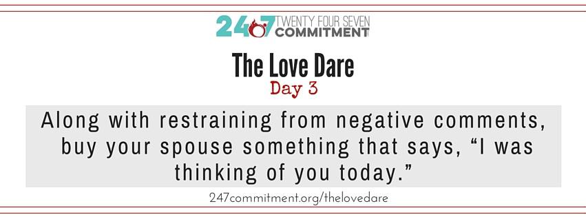 The Love Dare Day 3 banner