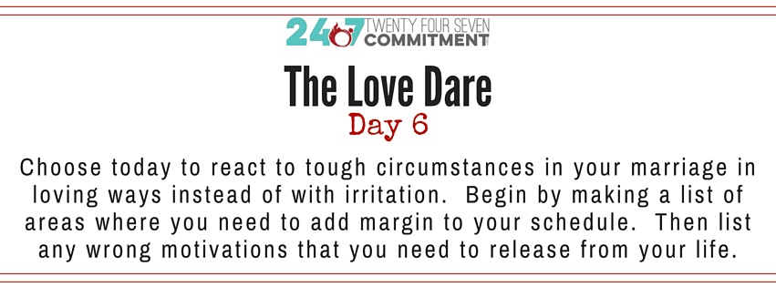 The Love Dare Day 6 banner post