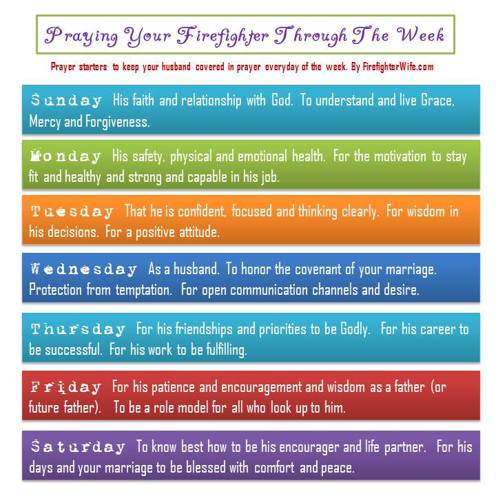Prayer for Your Firefighter Through the Week