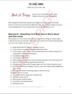 worry hands on sample page
