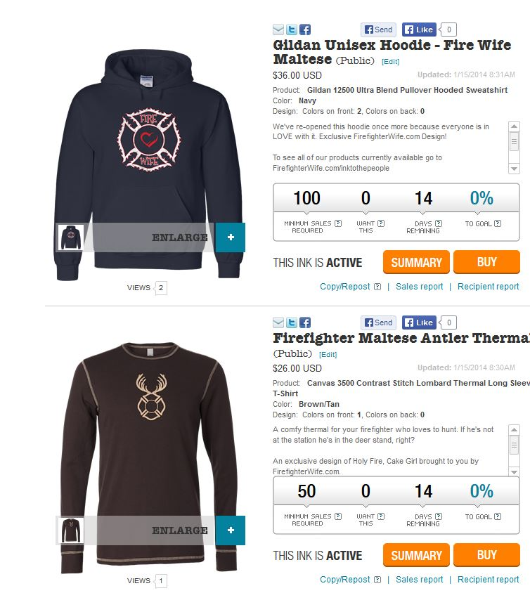 Fire Wife Hoodie and Firefighter Shirt for Valentines – Order by January 29th