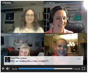 spreecast pink party screen capture 2