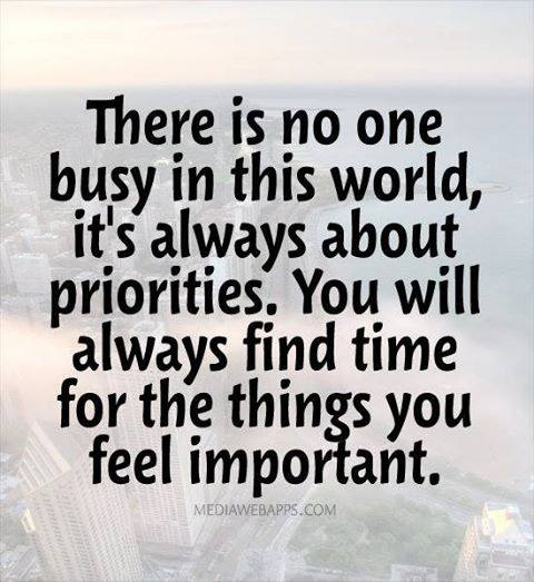 Busy or Prioritized?