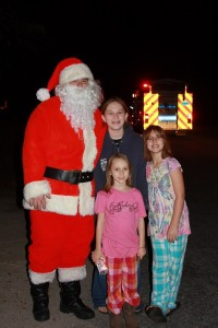 Santa Firefighter girls