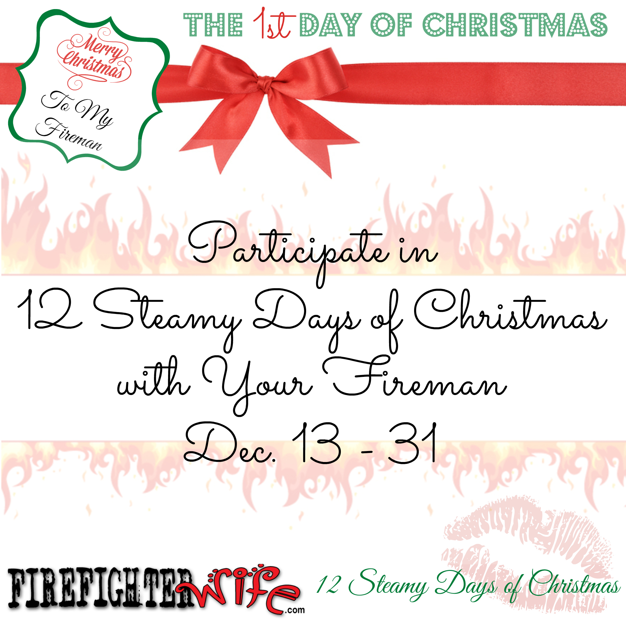 12 Steamy Days of Christmas with Your Fireman