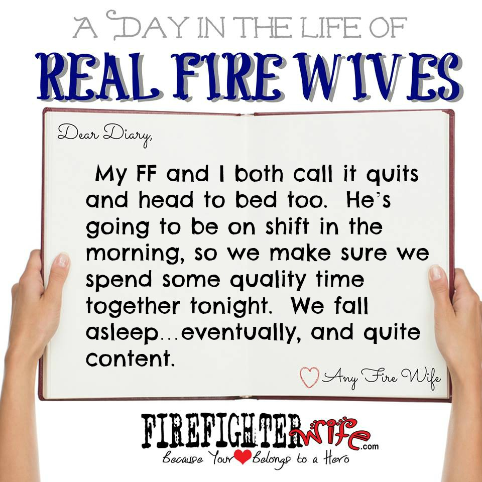 Diaries of Real Fire Wives – Day 4 – Cindy