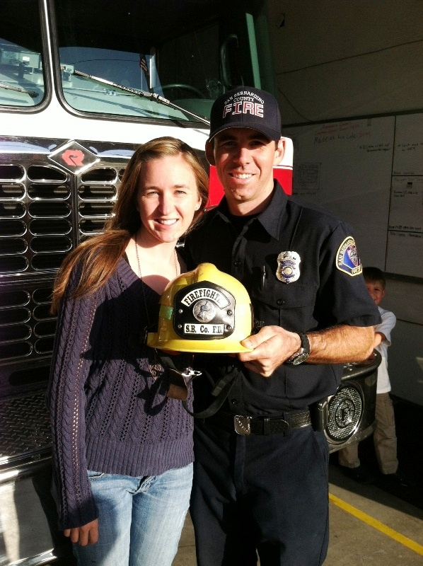 Getting his badge and shield as a PCF last October!