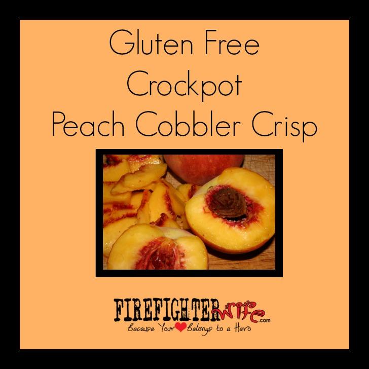 Peach Cobbler Crockpot Crisp – Gluten Free