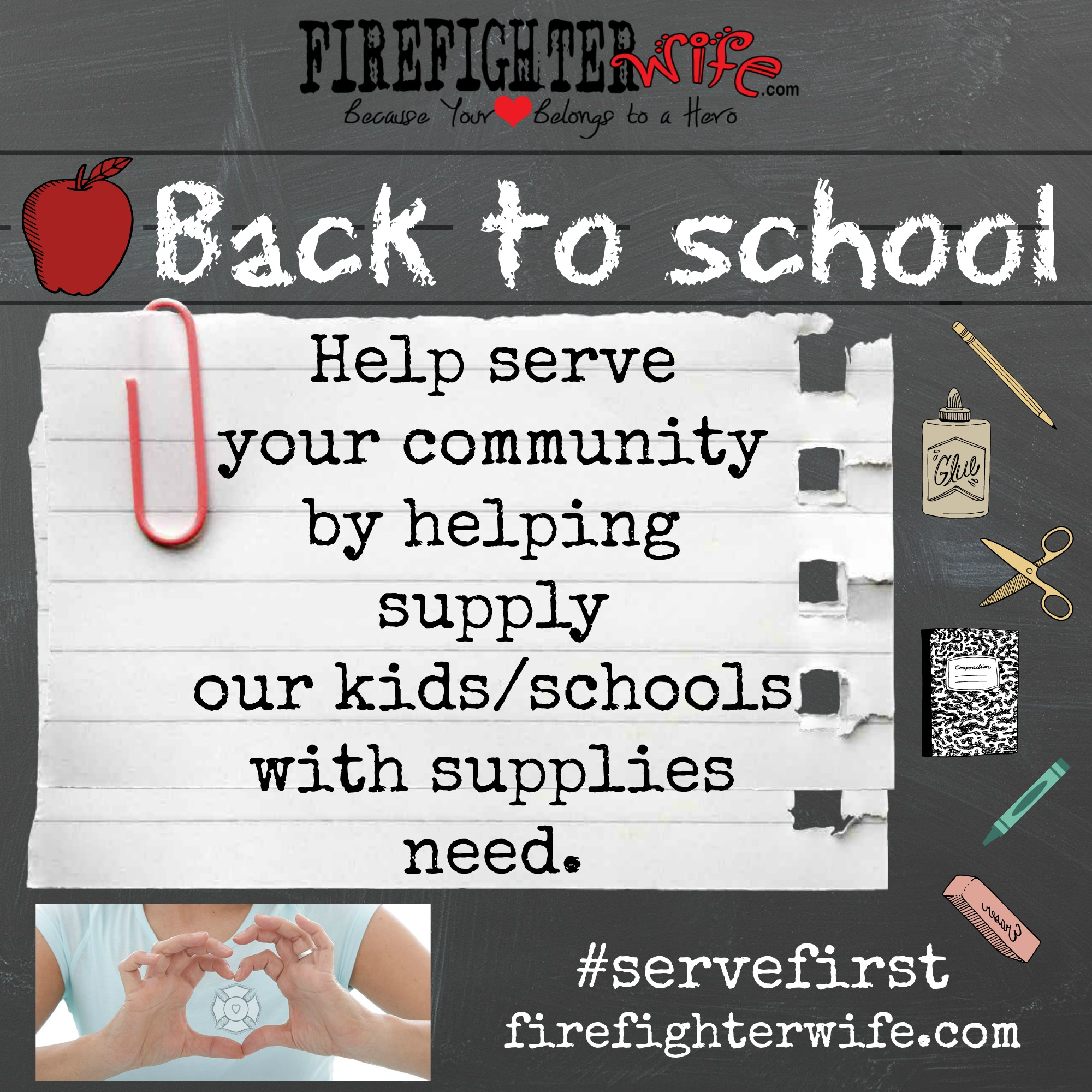 August #servefirst {feed the children}
