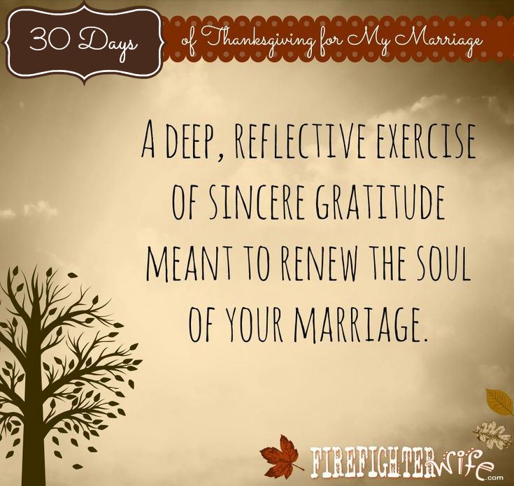30 Days of Thanksgiving for My Marriage