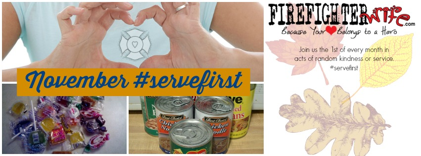 #servefirst {filling the food bank}