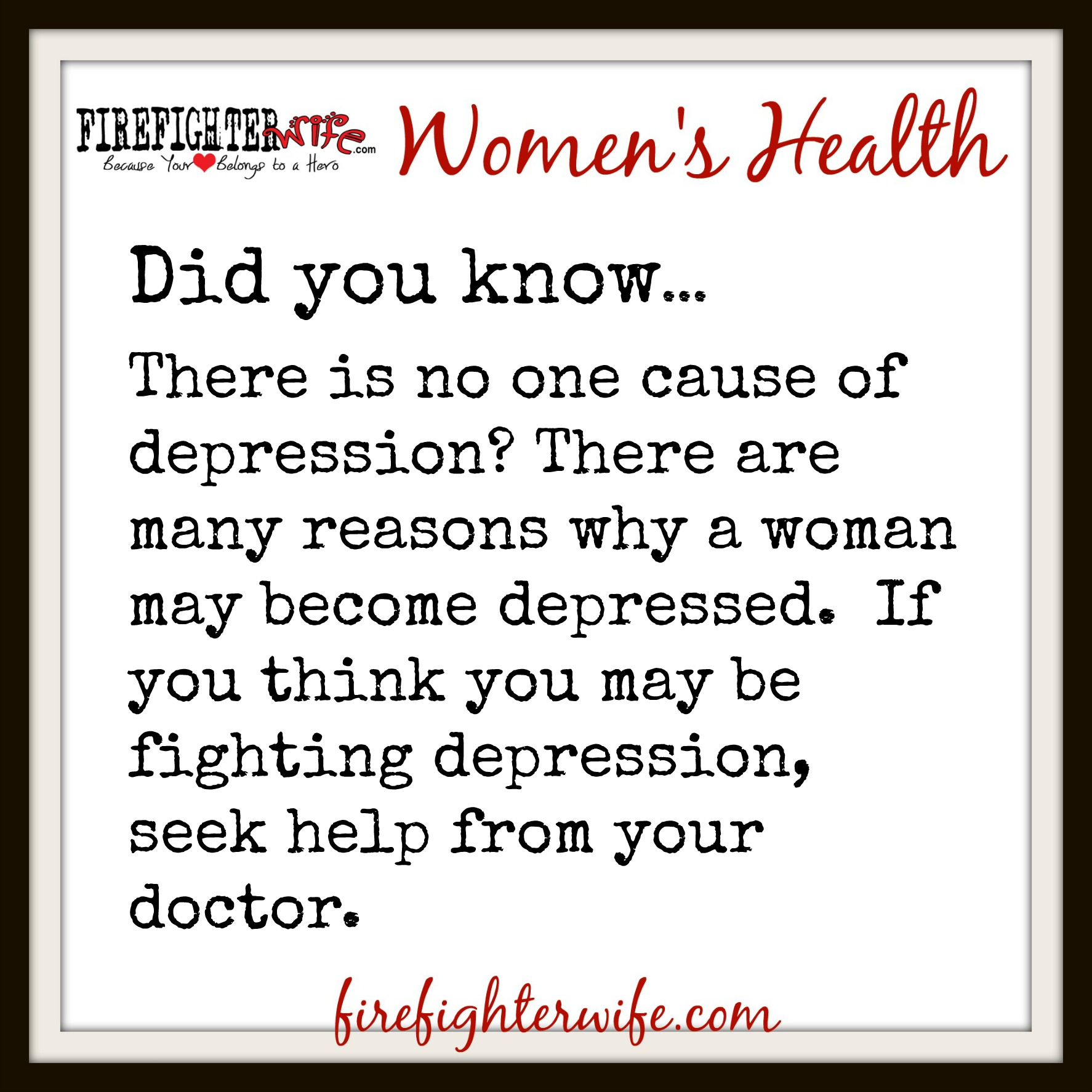 Women's Health {depression}