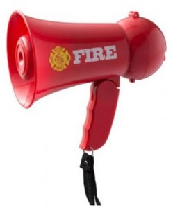 Firefighters Megaphone