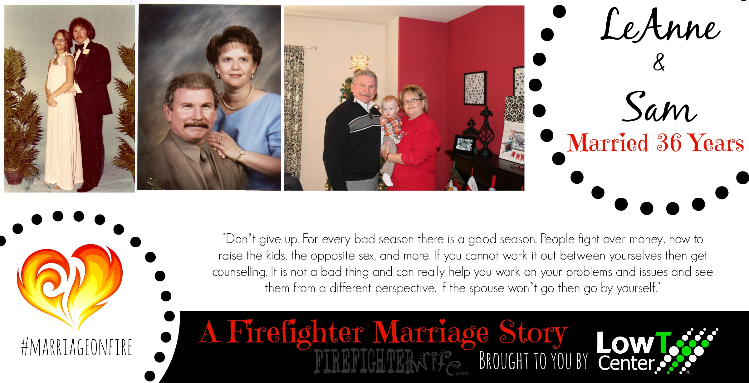 A Firefighter Marriage Story – Secrets to 36 Years