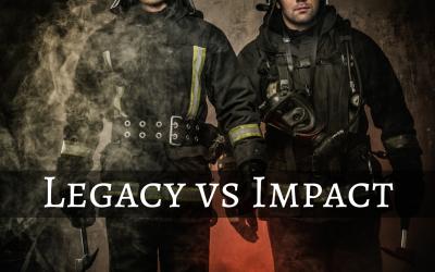 Legacy versus Impact: I'm In conflict