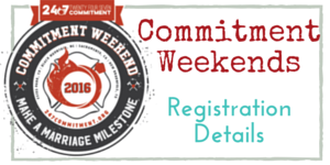 Commitment Weekend Registration Details