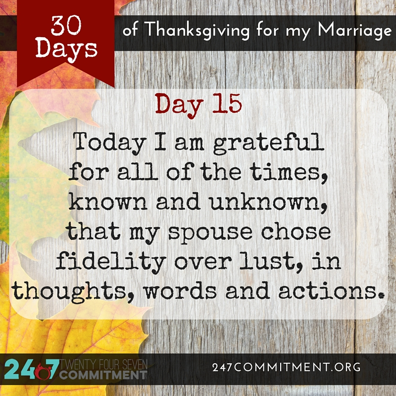 15 Thanksgiving for my Marriage