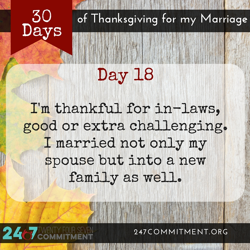 18 Thanksgiving for my Marriage