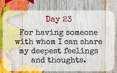 Marriage Gratitude 23: Deep Feelings
