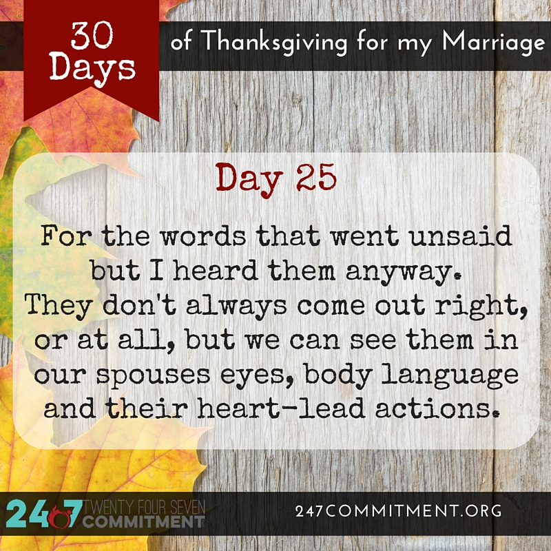 25 Thanksgiving for my Marriage