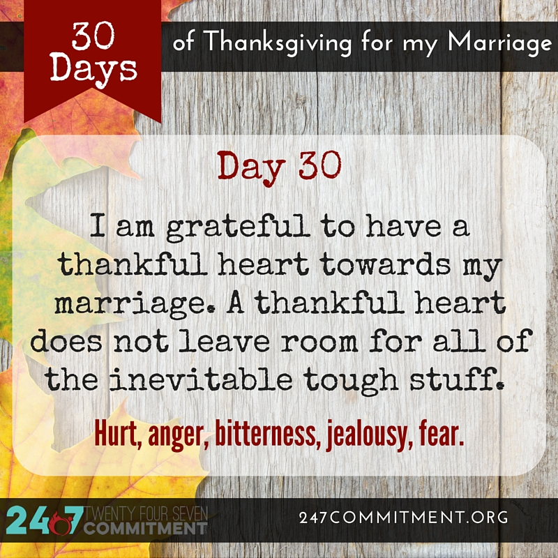 30 Thanksgiving for my Marriage