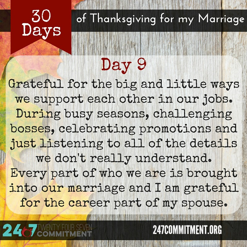 9 Thanksgiving for my Marriage