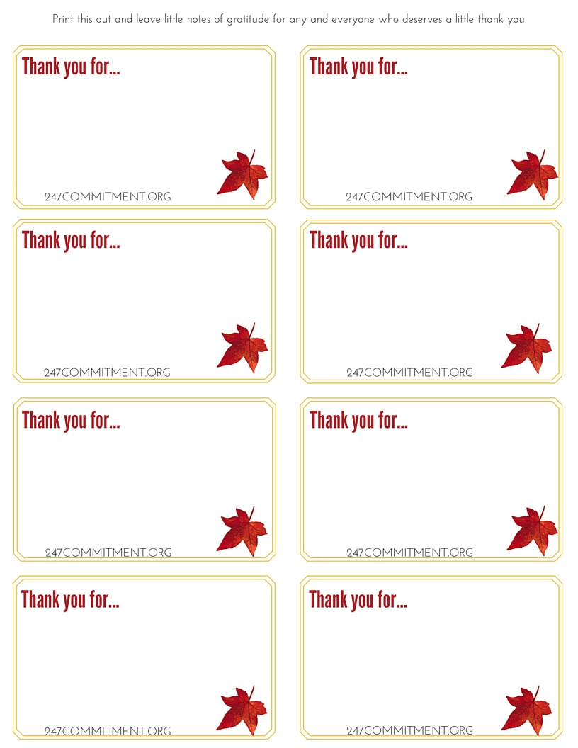 Shocking image in printable thank you notes