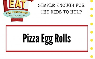 Pizza Eggrolls – and an unlikely little chef