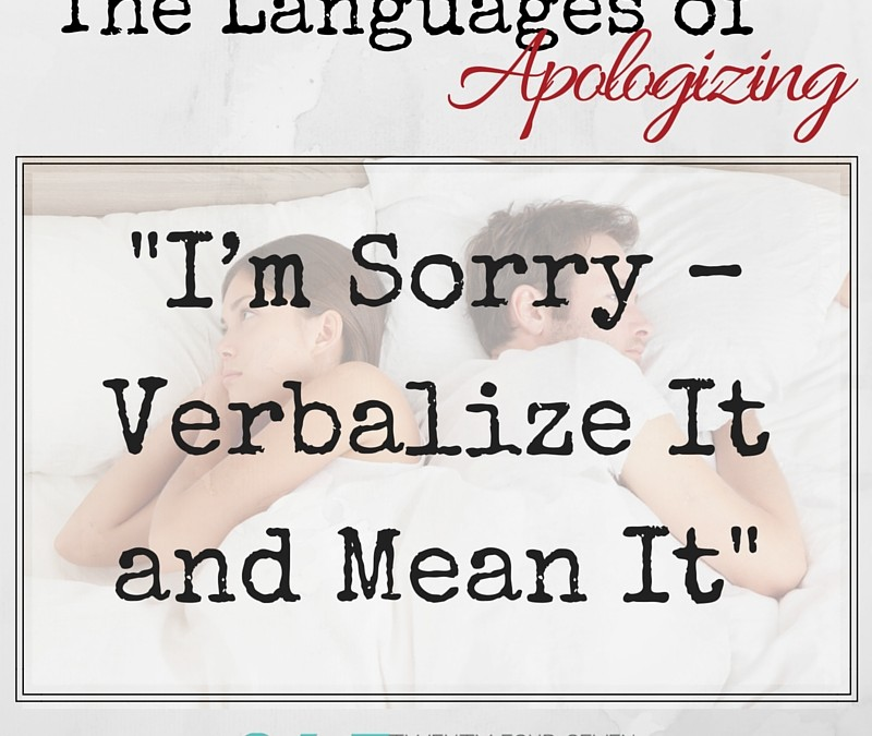 The Languages of Apologizing