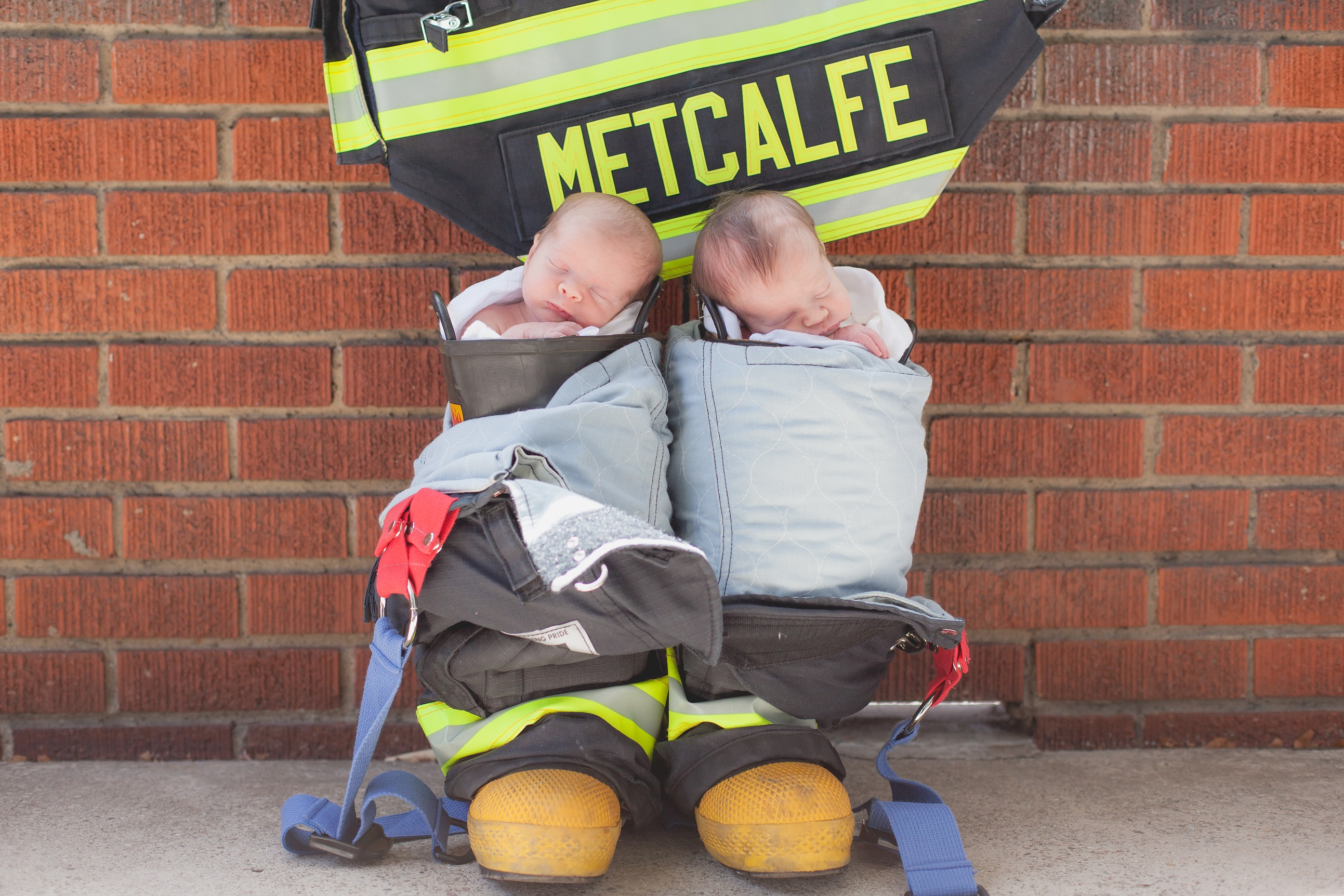 firefighter family photos for twins