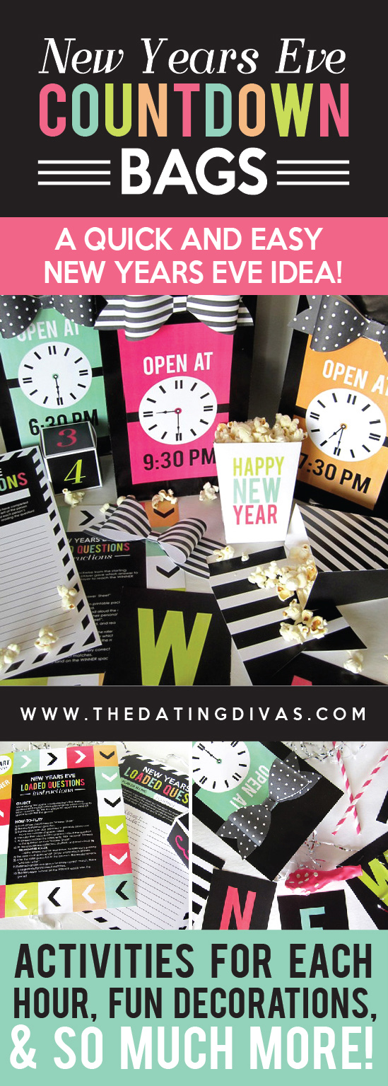 New Years Eve Countdown Bags pinterest